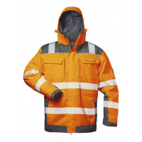 2IN1 WARNSCHUTZJACKE ORANGE/GRAU